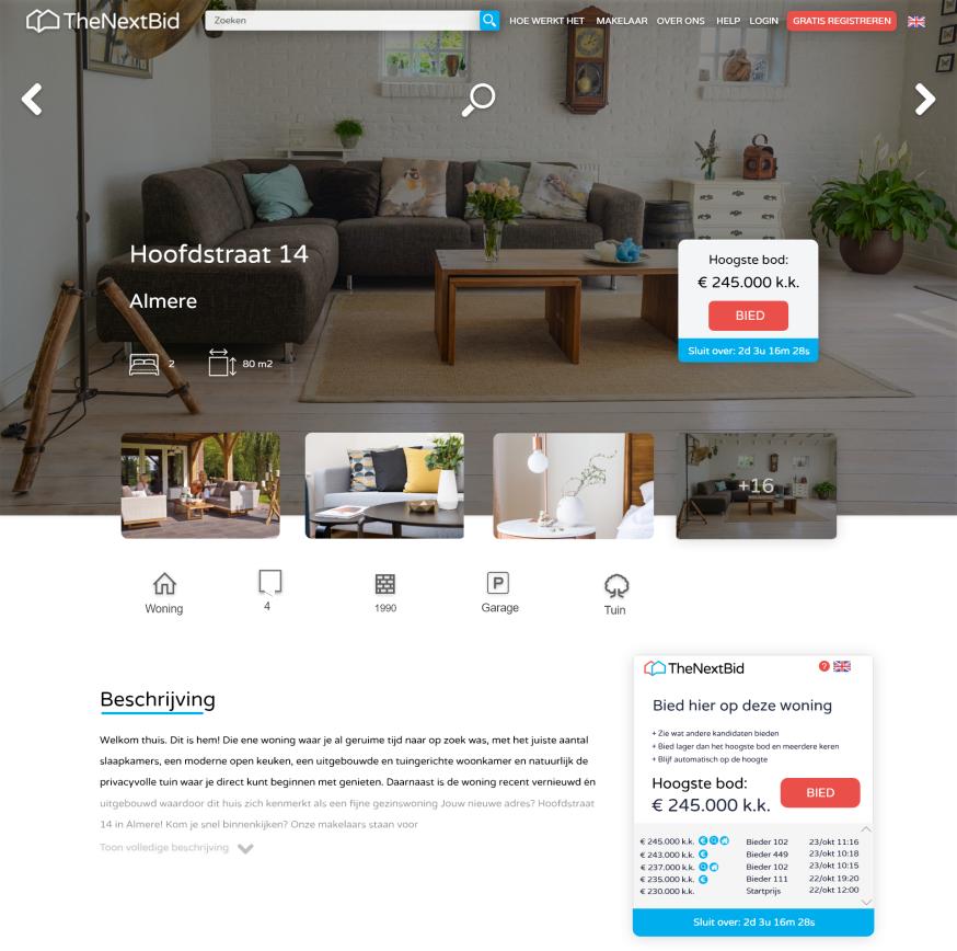 TheNextBid wil woningmarkt transparanter maken